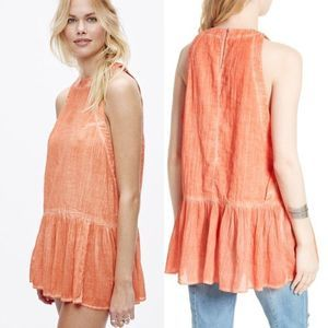 NWT Free People Breathless Moments Coral Tunic! ❤️